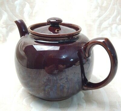 Vintage Treacle Glazed Brown Betty Teapot 2.5 Pints In Perfect Condition • 5£