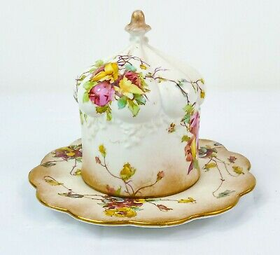 Stunning Doulton Burslem Spanish Ware Butter Dish & Cover Made In England! • 165£