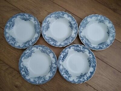 5 X Furnivals Versaille Vintage Large Rimmed Soup Bowl Possibly Antique See Desc • 49.99£