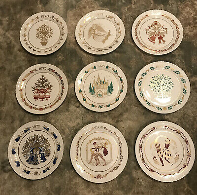 9 X Spode Christmas Plates 1970-1981 All Boxed And In Mint Condition • 45£