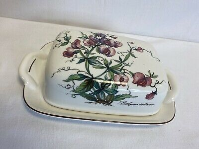 Villeroy And Boch Botanica Vitro- Porcelaine Covered Butter Dish VGC • 19.99£