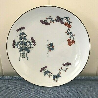 C1750 MEISSEN PORC SAUCER KAKIEMON STYLE EMBOSSED BAND BUTTERFLY FLOWERS PERFEC  • 76£