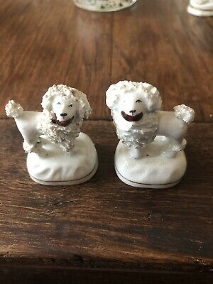2 X 19th Century Staffordshire Poodles • 9.99£