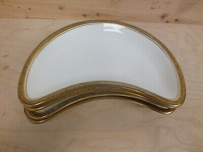 Hammersley T Goode & Co Crescent Side Plates 2934 White/Gold Edge (Hol) • 9.99£