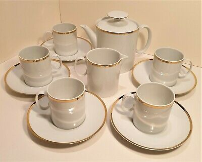 Thomas Medaillon Gold Band China 12 Piece Tea Set • 38£