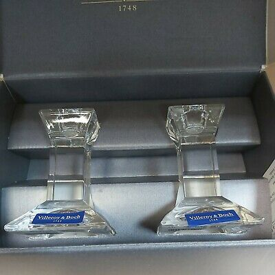 Villeroy And Boch Glass Candlesticks - Boxed • 10.50£