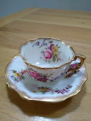 Hammersley Dresden Sprays Fine Bone China Cup And Saucer, Excellent Condition • 15£