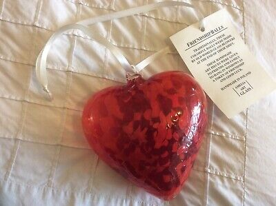 Heart, Red Glass, Amelia Art Glass  • 12£