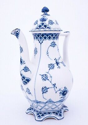 Coffee Pot #1202 - Blue Fluted - Royal Copenhagen - Full Lace - 1:st Quality • 151.31£