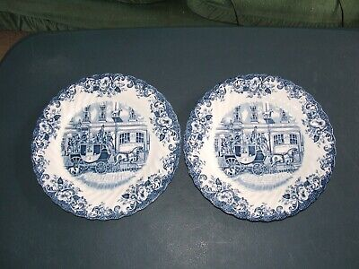 2 X Johnson Brothers Coaching Scenes Small/Side Plates • 5£