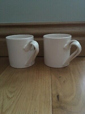 Hartley Greens Leeds Pottery Creamware Mugs Twisted Handle Excl. Bettys Tearoom • 60£