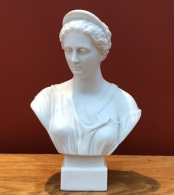 Victorian Robinson & Leadbeater Parian (Parianware) Bust Of Diana The Huntress • 119.95£