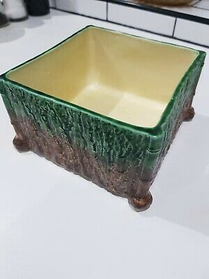 Bretby Planter Pottery Carved Bamboo  Japanese Style No.2716   11cm X 20cm • 55£