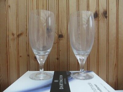 Dartington Crystal Glasses, Clear, Set Of 2. New - Boxed • 5.99£