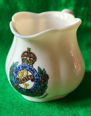 RARE W H GOSS QUEENS OWN DORSET YEOMANRY Military Crest • 49.99£