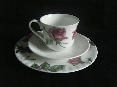 Roy Kirkham Rose Du Temps Cup Saucer And Side Plate - Trio Dated 2009 • 9.99£