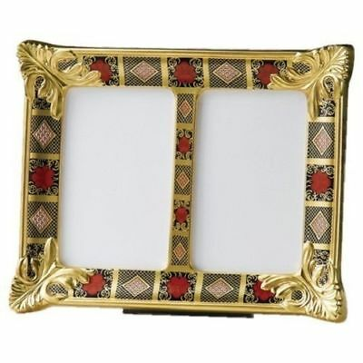 Royal Crown Derby 2nd Quality Old Imari Solid Gold Band Double Picture Frame • 365£