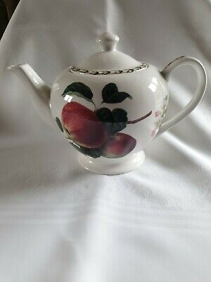 Queen's English Fine China 2 Pint Capacity Teapot R.h.s.  Hookers Fruit  • 5.90£