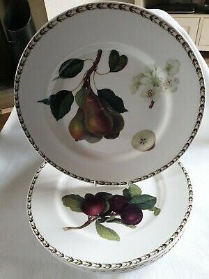Queens RHS Hookers Fruit Fine Bone China 6 X 11  Dinner Plates  • 3.20£