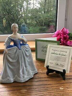 "Franklin Porcelain Limited Edition Figurine ""Catherine The Great"" C1983 COA • 14.50£"