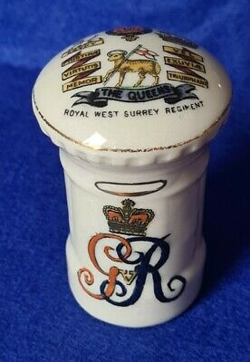 Arcadian Crested China The Queens ROYAL WEST SURREY REGIMENT Military Crest • 29.99£