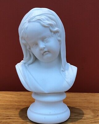 Victorian Parian (Parianware) Busts Of The Crying Child After Francois Roubiliac • 49.95£
