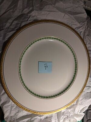 China Alfred Meakin Green And Gold Vintage Bone China 220mm Plate 12 • 4£