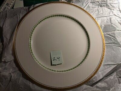 China Alfred Meakin Green And Gold Vintage Bone China 250mm Has A Chip Plate 24 • 4£
