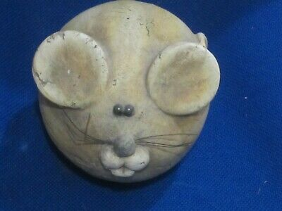 Pottery Cartoon Character Mouse Ornament /paperweight • 4.99£