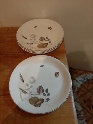 Set Of 6 X Rare Retro Vintage 1950s Alfred Meakin Phantom Rose Plates 9 Inches  • 4.99£