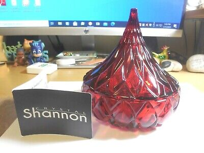 Shannon Crystal Ruby Red Candy Dish • 8.84£