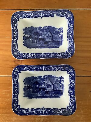 Vintage Shredded Wheat Dishes X2 , Abbey 1790 Pattern, By George Jones • 9.99£