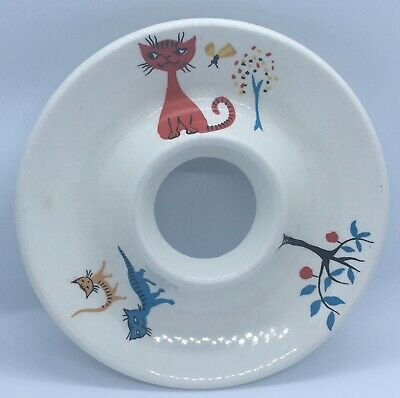 Old Foley James Kent Staffordshire, Retro Child's Egg Cup With Cats Circa 1950s • 4.60£