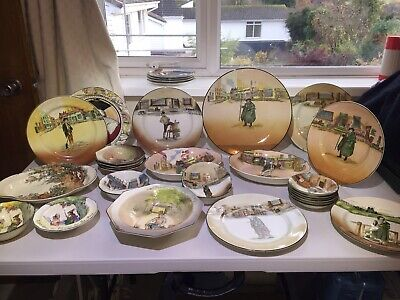 27 Pieces Royal Doulton, Dickensware, Under The Greenwood Tree, Misc, Starting B • 50£