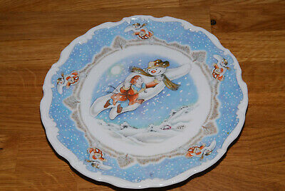 Royal Doulton Snowman Walking In The Air Plate 1985 (53) • 17.99£
