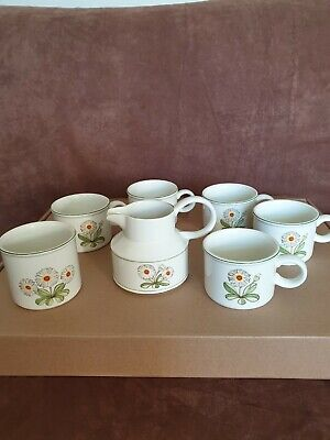 Midwinter Fleur 5 X Cups Jug And Suger Bowl Oven To Tableware Vintage • 20£