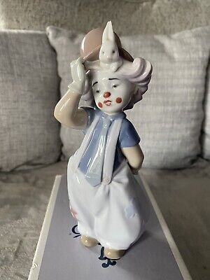 Lladro Clown Figurine The Magician's Hat Mint Condition 8092 Boxed • 17£