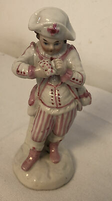 """Rare 19th Century Porcelain Figurine Of A Boy Approx 5"""" Style  Dresden/Meissen • 125£"""