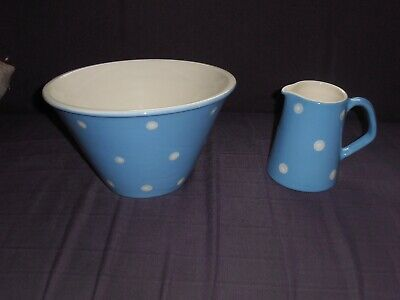 Stunning Laura Ashley Large Bowl & Pitcher, Very Good Condition & Hand Crafted. • 34.99£