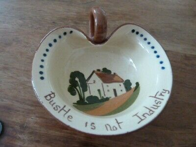 MOTTO WARE Leaf Shaped Jam Dish Hand Painted  • 5£