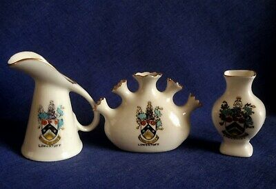 Arcadian Crested China Plus Two Unmarked. Lowestoft.  (BBB) • 2£