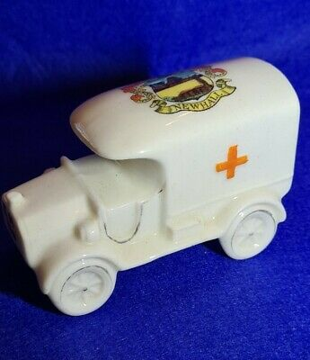 Arcadian Crested China WW1 Red Cross Van / Ambulance NEWHALL • 17.99£