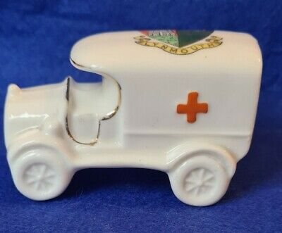 Arcadian Crested China WW1 Red Cross Van / Ambulance LYNMOUTH  • 12.50£