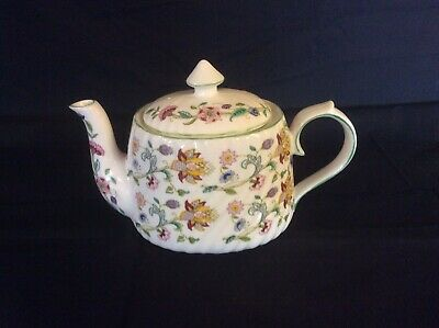 6 Cup Teapot Romany Interest Reproducted In Haddon Hall Chintz MADE IN ENGLAND • 50£