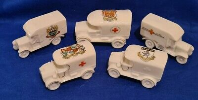Crested China WW1 Red Cross Van Collection Of Five  • 13.50£