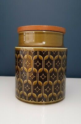 Hornsea Pottery Vintage Unlabelled  Heirloom Green Tall 6  Storage Jar Canister  • 8£