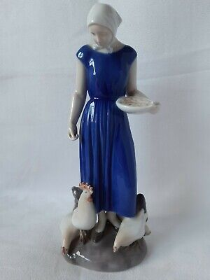 Large Bing & Grondahl Poultry Girl Figurine Ref 2220  • 49.99£