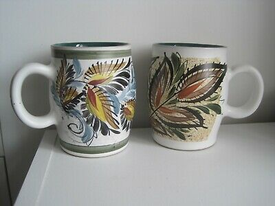 2 X Denby Pottery  Vintage Hand Painted Mugs  • 24.99£