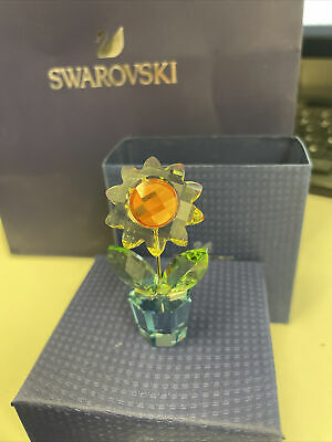 Swarovski Crystal Moments Happy Flowers Small Sunflower Boxed/Cert  663148 • 6.90£