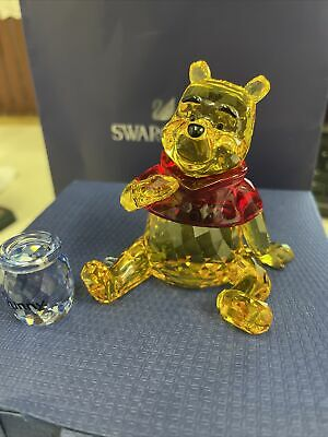 Swarovski Crystal Winnie The Pooh With Honey Pot 1142889 Fully Boxed.  • 104£